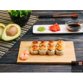 Запеченный ролл № 2 с креветкой и авокадо